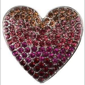 Holiday Lane Ombre Stone Heart Pin